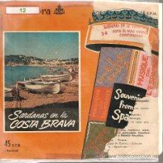 Discos de vinilo: SINGLE SARDANES - SARDANAS EN LA COSTA BRAVA - COBLA BARCELONA : SOTA EL MAS VENTOS + 1 . Lote 30739422