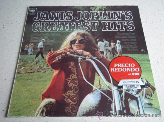 JANIS JOPLIN – JANIS JOPLIN'S GREATEST HITS SPAIN,1983 CBS (Música - Discos - LP Vinilo - Pop - Rock - Internacional de los 70)