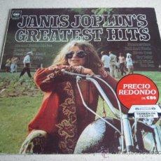 Discos de vinilo: JANIS JOPLIN ' GREATEST HITS ' 1973 -SPAIN LP33 CBS. Lote 30752987