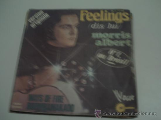 MORRIS ALBERT - FEELINGS / WAYS OF FIRE / BOOMBAMAKAOO - SINGLE VOGUE FRANCIA 1975 PEPETO (Música - Discos - Singles Vinilo - Canción Francesa e Italiana)
