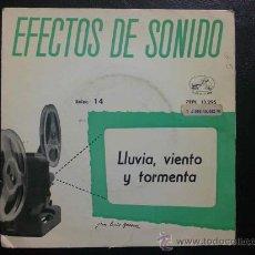 Discos de vinilo: EFECTOS DE SONIDO - LLUVIA, VIENTO, TORMENTA... EP DE VINILO. Lote 30763667