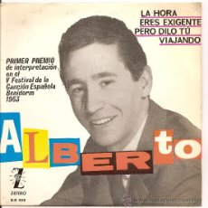 Disques de vinyle: ALBERTO-EP LA HORA +3-BENIDORM-1963. Lote 30764156