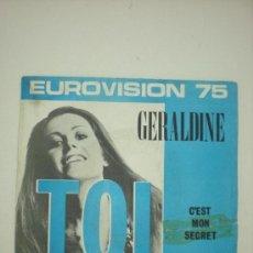 Discos de vinilo: GERALDINE EUROVISION 1975. Lote 30788336