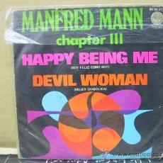 Discos de vinilo: MANFRED MANN - HAPPY BEING ME / DEVIL WOMAN - EDICION ESPAÑOLA - VERTIGO 1970. Lote 30790596