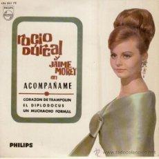 Discos de vinilo: ROCIO DURCAL & JAIME MOREY - ACOMPAÑAME - UN MUCHACHO FORMAL - EL DIPLODOCUS - EP SPAIN 1965 EX / E. Lote 30802968