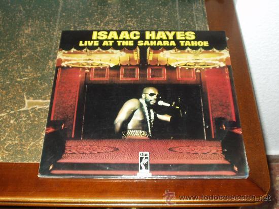 ISAAC HAYES DOBLE LP LIVE AT THE SAHARA TAHOE (Música - Discos - Singles Vinilo - Funk, Soul y Black Music)