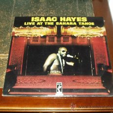 Discos de vinilo: ISAAC HAYES DOBLE LP LIVE AT THE SAHARA TAHOE. Lote 30805761