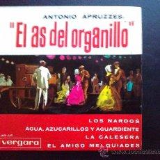 Discos de vinilo: EL AS DEL ORGANILLO - ANTONIO APRUZZESE. Lote 30807342