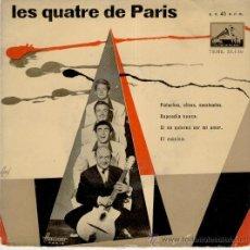 Discos de vinilo: LES QUATRE DE PARIS - PISTACHOS, OLIVAS Y CACAHUETES - RAPSODIA SUECA - EP SPAIN AÑOS 50 VG++ / EX. Lote 30809529