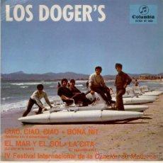 Discos de vinilo: LOS DOGERS - FESTIVAL INTERNACIONAL DE LA CANCION DE MALLORCA - CIAO CIAO CIAO + 3 - EP 1967 EX / EX. Lote 30818083