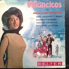 Discos de vinilo: AMALIA DE GRANADA - VILLANCICOS - EP. Lote 30818516