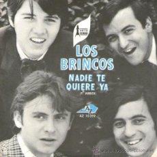 Discos de vinilo: LOS BRINCOS - SINGLE VINILO - EDITADO EN FRANCIA - NADIE TE QUIERE YA + LOLA. Lote 30848059