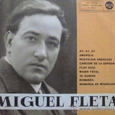 Discos de vinilo: MIGUEL FLETA - AY, AY, AY - LP ORIGINAL ESPAÑA, 1961. Lote 30850458