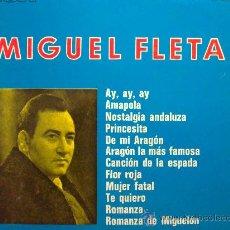 Discos de vinilo: MIGUEL FLETA - AY, AY, AY - LP REEDICIÓN. Lote 30850464
