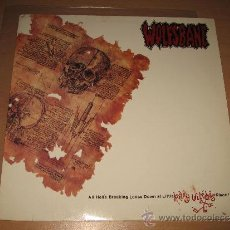 Discos de vinilo: LP WOLFSBANE ALL HELL'S BREAKING DOWN AT LITTLE KATHY WILSON'S PLACE -DEF AMERICAN 1990 HOLLAND. Lote 30850693