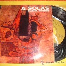 Discos de vinilo: ELENA BURKE -EP- A SOLAS + 3 - OR CUBA. Lote 30857451