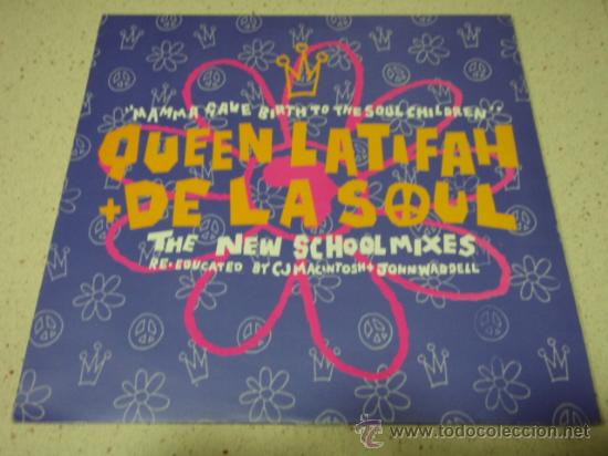 QUEEN LATIFAH + DE LA SOUL (MAMMA GAVE BIRTH TO THE SOUL CHILDREN 3 VERSIONES) ENGLAND-1990 (Música - Discos de Vinilo - Maxi Singles - Disco y Dance)