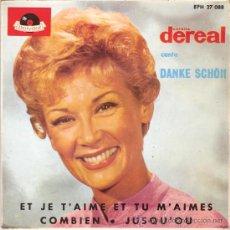 Discos de vinilo: COLETTE DEREAL - DANKE SCHOEN + 3 (EP DE 4 CANCIONES) POLYDOR 1964 - EX/VG++. Lote 30886555