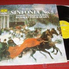 Discos de vinilo: TCHAIKOVSKY SINFONIA N5 BERLIN KARAJAN LP 1981 DEUTSCHE GRAMMOPHON. Lote 30894758