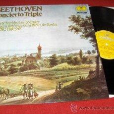 Discos de vinilo: BEETHOVEN CONCIERTO PARA PIANO VIOLIN Y VIOLONCHELO BERLIN/FRICSAY LP 1982 DEUTSCHE GRAMMOPHON. Lote 30895184
