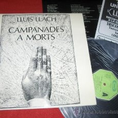 Discos de vinilo: LLUIS LLACH CAMPANADES A MORTS LP 1977 MOVIEPLAY EDICION ESPAÑOLA. Lote 30896207