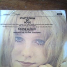 Discos de vinilo: RONNIE ALDRICH - INVITATION TO LOVE (DECCA, 1974). Lote 30899291