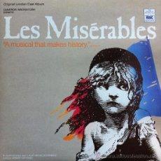 Discos de vinilo: LES MISERABLES LP Y LIBRETO BANDA SONORA ORIGINAL 1981 WEST END LONDRES. Lote 30906825