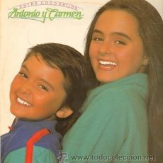 Discos de vinilo: ANTONIO Y CARMEN-ENTRE COCODRILOS-(LP NUEVO)HIJOS DE ROCIO DURCAL. Lote 41811878