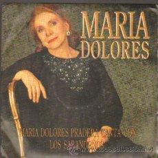 Discos de vinilo: MARIA DOLORES PRADERA Y LOS SABANDEÑOS MARIA DOLORES RF-5509. Lote 30913227