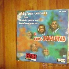 Discos de vinilo: LOS JAVALOYAS. MAGICOS COLORES. EP. EMI 1967 MICROSURCO. Lote 30919381