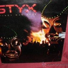 Discos de vinilo: STYX LP KILROY WAS HERE 1983 -PORTADA DOBLE CON ENCARTE ORIGINAL HOLANDA LP33 A&M. Lote 30926243
