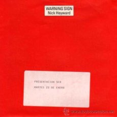 Discos de vinilo: NICK HEYWARD - WARNING SIGN / WARNING SIGN (VERSION) ( (SINGLE 45 RPM) - VINILO NUEVO. Lote 30932595