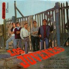 Discos de vinilo: LOS JÓVENES - EP 7'' - EDITADO ESPAÑA - QUÉ LLORAR + 3 (BEATLES & ROLLING COVERS) - DISCOPHON 1965.. Lote 30937060