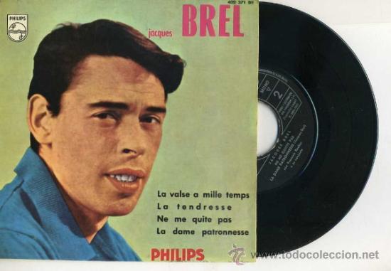 JACQUES BREL : LA VALSE A MILLE TEMPS (1960) (Música - Discos de Vinilo - EPs - Canción Francesa e Italiana)