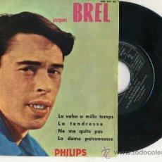 Discos de vinilo: JACQUES BREL : LA VALSE A MILLE TEMPS (1960). Lote 30937312