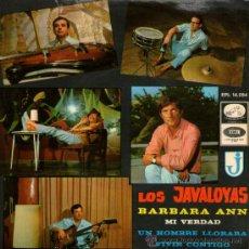 Discos de vinilo: LOS JAVALOYAS - EP SINGLE VINILO 7'' - EDITADO ESPAÑA - BARBARA ANN + 3 - LA VOZ DE SU AMO - AÑO1966. Lote 30937947