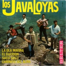 Discos de vinilo: LOS JAVALOYAS - EP SINGLE VINILO 7'' - EDITADO ESPAÑA - LA OLA MARINA + 3 - BELTER 1966.. Lote 60045469