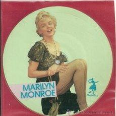 Discos de vinilo: MARILYN MONROE EP PICTURE SELLO MAYBELLENE AÑO 1987 MADE IN E,E,C,. Lote 30950621