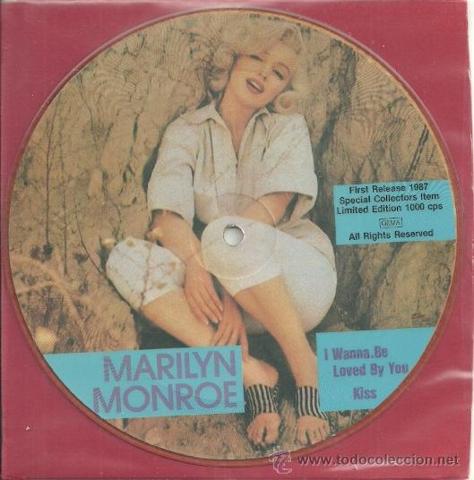 MARILYN MONROE EP PICTURE SELLO MAYBELLENE AÑO 1987 MADE IN E,E,C, (Música - Discos de Vinilo - EPs - Bandas Sonoras y Actores)