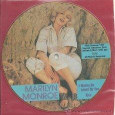 Discos de vinilo: MARILYN MONROE EP PICTURE SELLO MAYBELLENE AÑO 1987 MADE IN E,E,C,. Lote 30950687