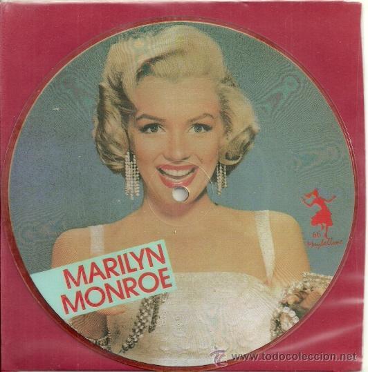 MARILYN MONROE EP PICTURE SELLO MAYBELLENE AÑO 1987 MADE IN E,E,C, (Música - Discos de Vinilo - EPs - Bandas Sonoras y Actores)