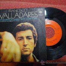 Discos de vinilo: FRANCISCO VALLADARES VOY SIGUIENDO MI CAMINO SINGLE VINILO CON DEDICATORIA Y FIRMA JULIO IGLESIAS . Lote 30959506