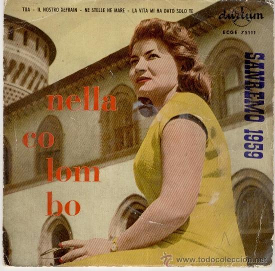 NELLA COLOMBO - TUA + 3 EP (Música - Discos de Vinilo - EPs - Canción Francesa e Italiana)