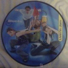 Discos de vinilo: BLUE 4U – LIVIN'IN JAM MAXISINGLE PICTURE DISC 1999 SPA. Lote 30961773