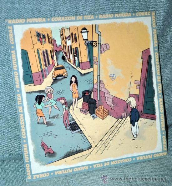RADIO FUTURA - MAXI SINGLE VINILO 12'' - CORAZÓN DE TIZA (VERSIÓN Y RAP) + 1 - ARIOLA 1990 (Música - Discos de Vinilo - Maxi Singles - Grupos Españoles de los 90 a la actualidad)