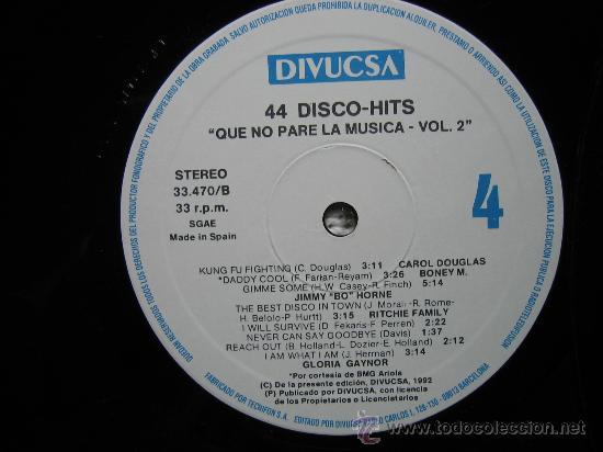Discos de vinilo: LP QUE NO PARE LA MUSICA 1992. TRES DISCOS - Foto 3 - 30980069