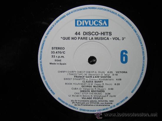 Discos de vinilo: LP QUE NO PARE LA MUSICA 1992. TRES DISCOS - Foto 4 - 30980069