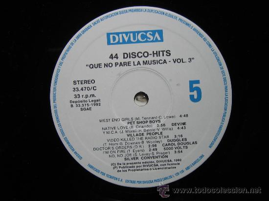 Discos de vinilo: LP QUE NO PARE LA MUSICA 1992. TRES DISCOS - Foto 7 - 30980069
