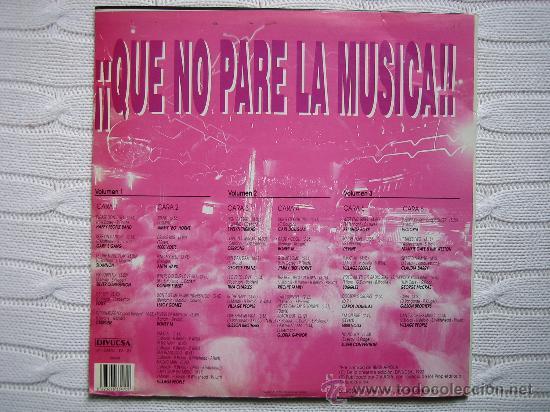 Discos de vinilo: LP QUE NO PARE LA MUSICA 1992. TRES DISCOS - Foto 8 - 30980069