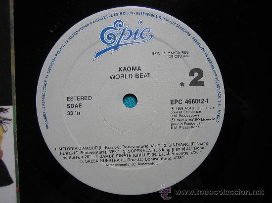 Discos de vinilo: LP KAOMA 1989 - Foto 2 - 30980402